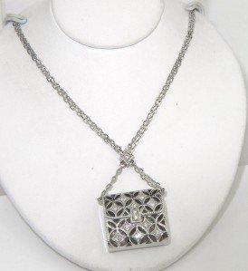 Mikimoto 18K White Gold Diamond Necklace