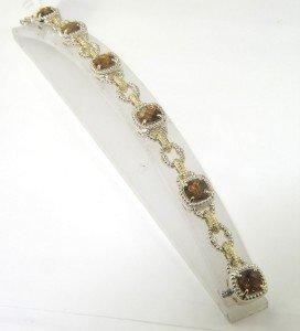Charles Krypell 14K  Gold/Silver Citrine Bracelet