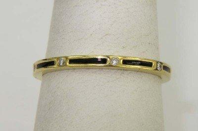 Hidalgo 18K Yellow Gold Diamond & Onyx Ring