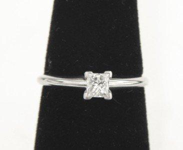 Platinum/14K White Gold Diamond Ring