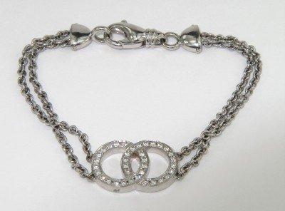 Movado 18K White Gold Diamond Bracelet