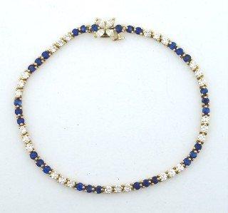 Tiffany & Co 18K Gold, Sapphire & Diamond Bracelet.