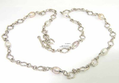 6A: Charles Krypell Silver Pearl Necklace