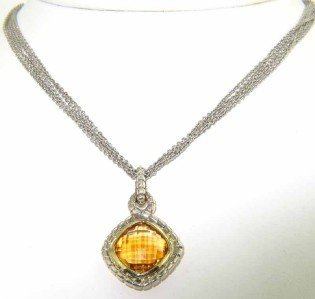 12A: Charles Krypell Silver Gold Citrine Nec