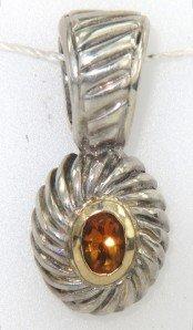 6: Silver / 18K Yellow Gold Citrine Pendant