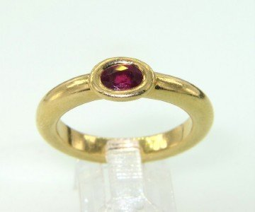 7: Chaumet Paris 18K Yellow Gold Ruby Ring