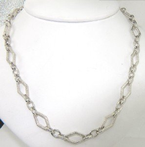 21: Charles Krypell Silver Diamond Necklace
