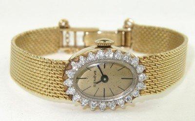 101: Geneve 14K Yellow Gold Diamond Watch