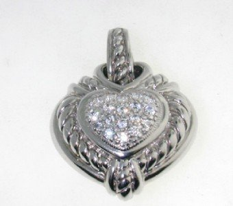 6: Judith Ripka Silver Diamonique Pendant