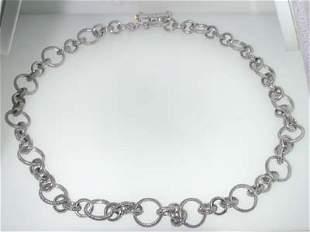14K White Gold Aquamarine Bracelets.