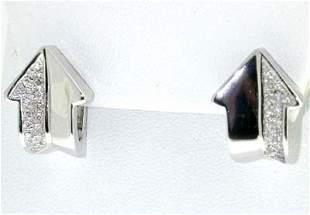 Enigma 18K White Gold Diamond Earrings