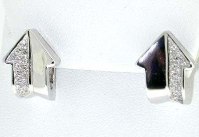 10: Enigma 18K White Gold Diamond Earrings