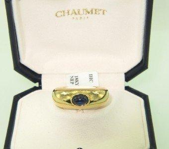 14: Chaumet Paris 18K Yellow Gold Cabochon Sapphire Rin