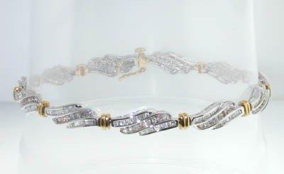 15: 10K Two-tone Gold, Diamond Bracelet