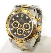 402: Rolex Daytona18K Gold/Stainless Steel Diamond Watc