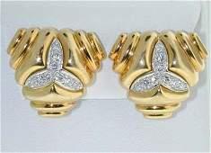 414: Tiffany & Co 18K  Yellow Gold, Diamond Earrings
