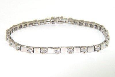 3: 18K White Gold Diamond Bracelet