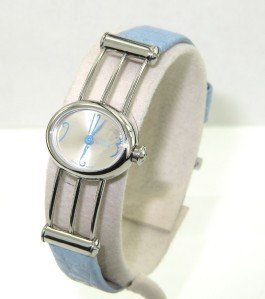 10: Milus Stainless Steel Leather Strap Watch
