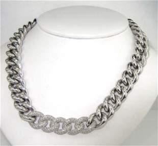 Pianegonda Silver Diamond Necklace