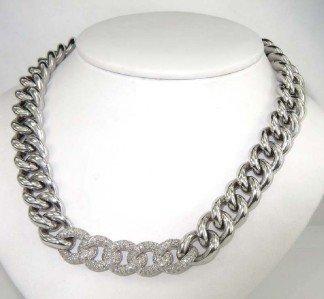 14: Pianegonda Silver Diamond Necklace