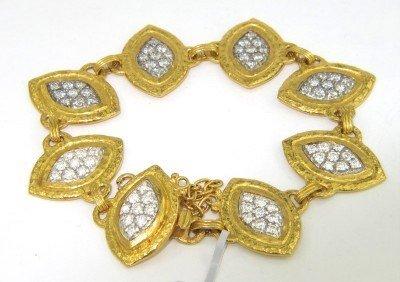 135: Gurhan 24K Yellow Gold Diamond Bracelet