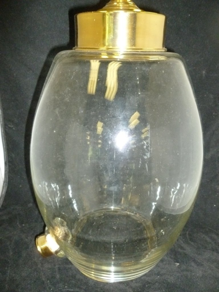11: Glass and Brass Beverage Dispenser
