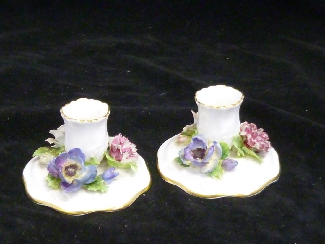 Staffordshire candlesticks