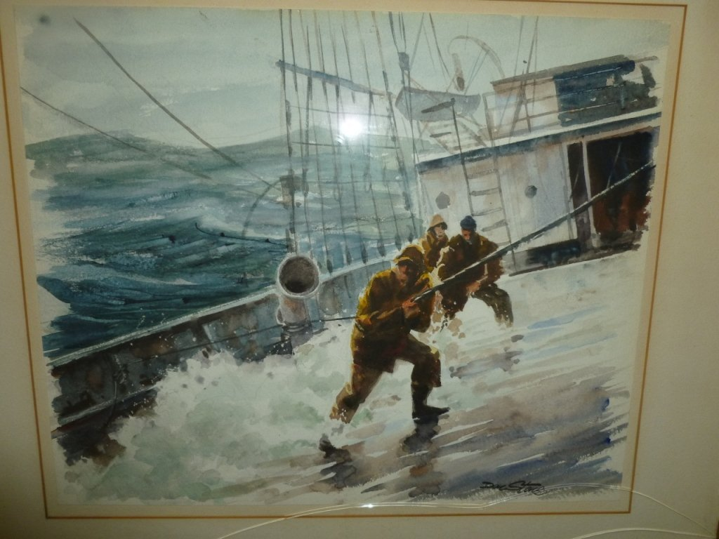 Authentic Don Stone watercolor of a storm at sea