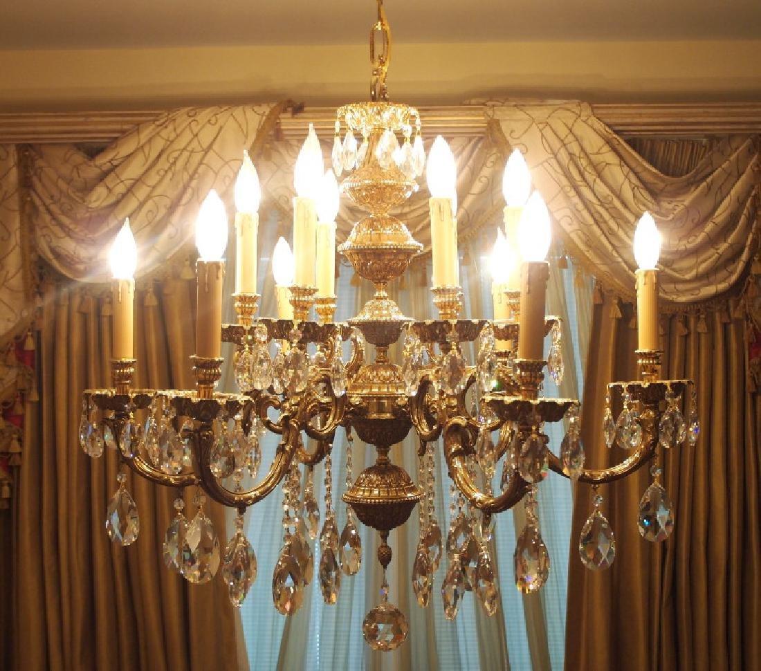 European style 12-light chandelier