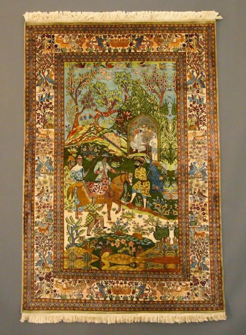 Tabriz Silk Rug