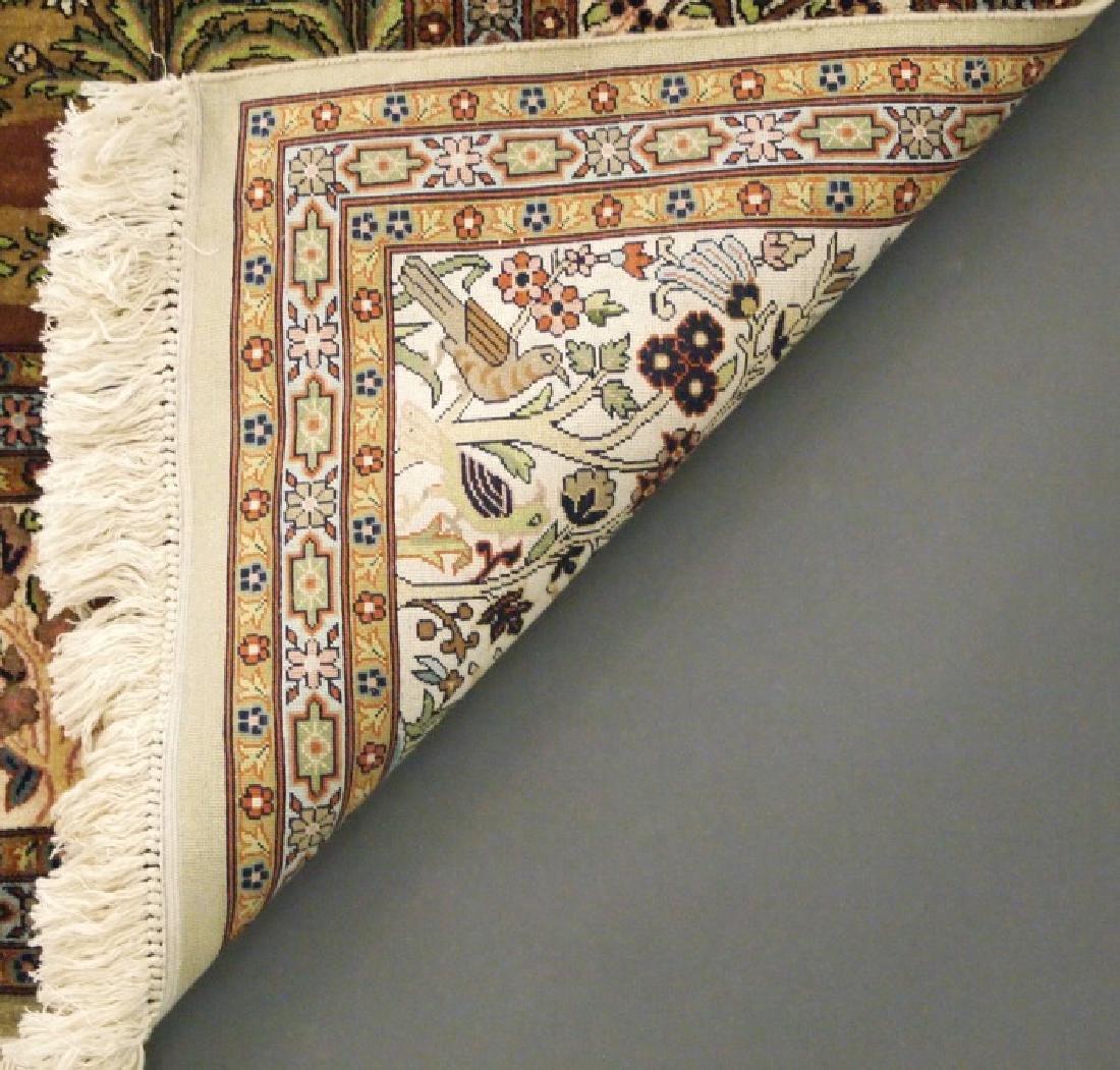 Tabriz Silk Rug - 3