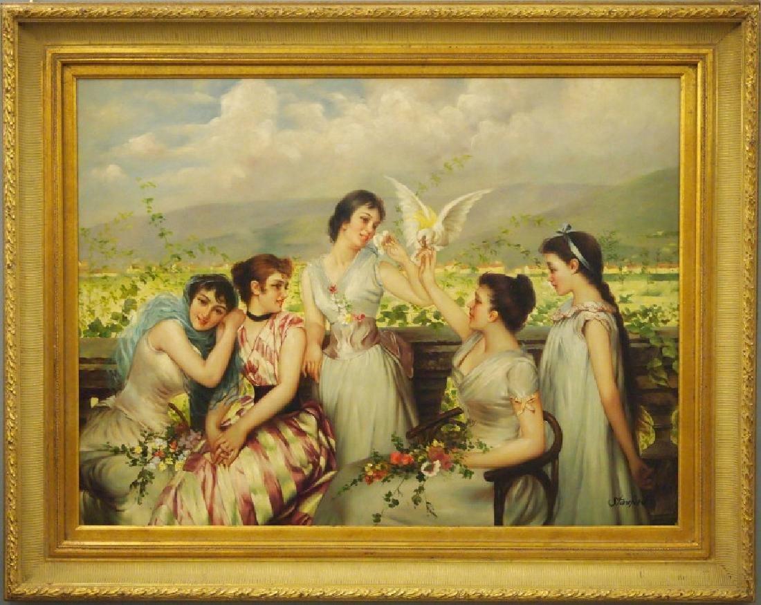 Stanford, women in garden