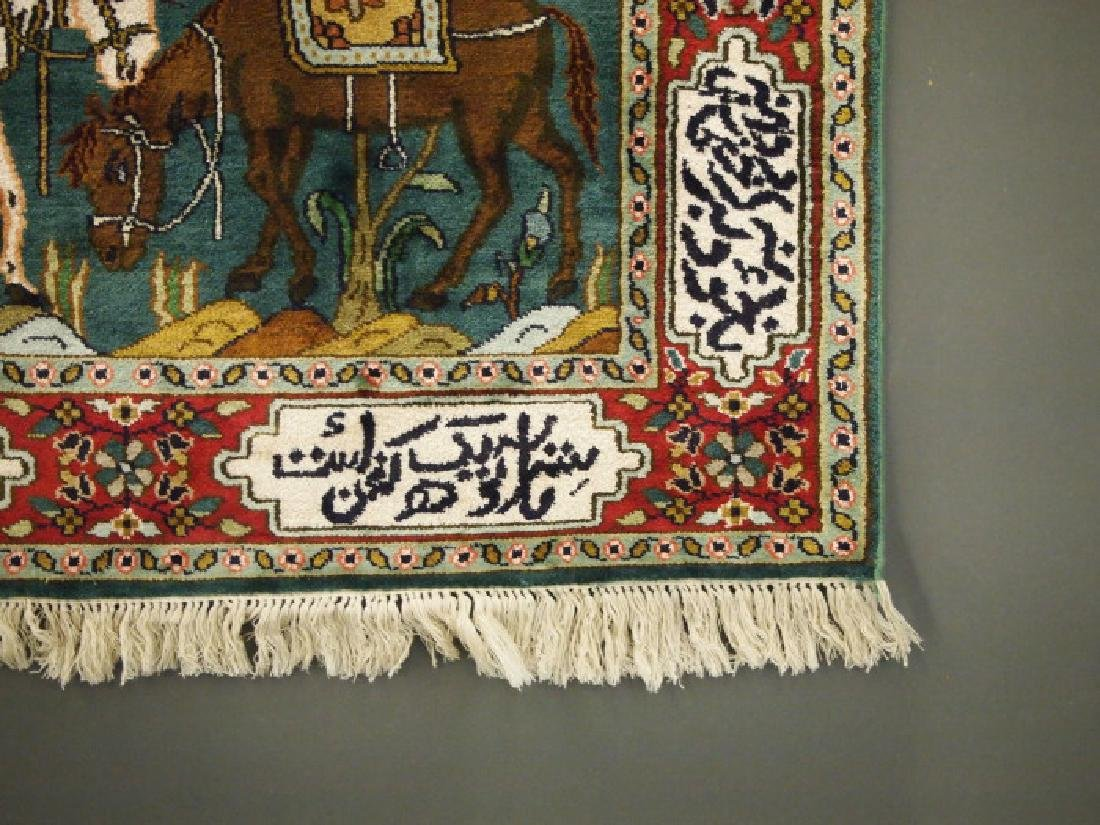 Silk Pictorial rug - 2