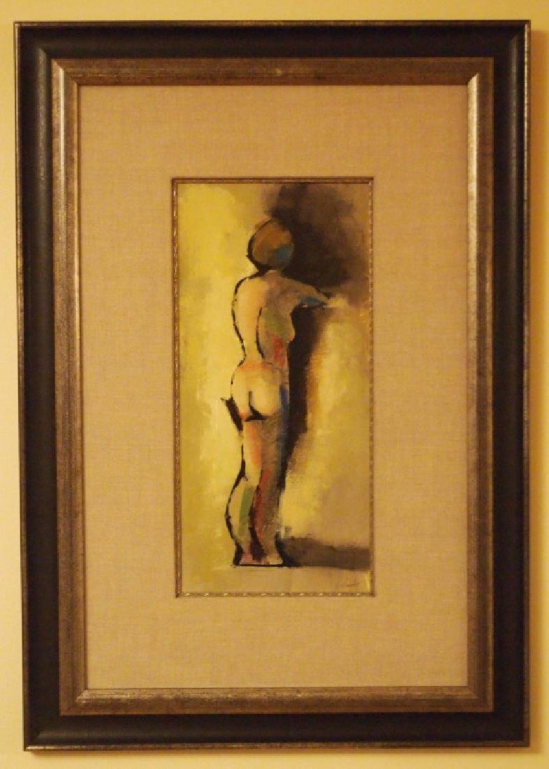 Laslo contemporary oil, standing nude