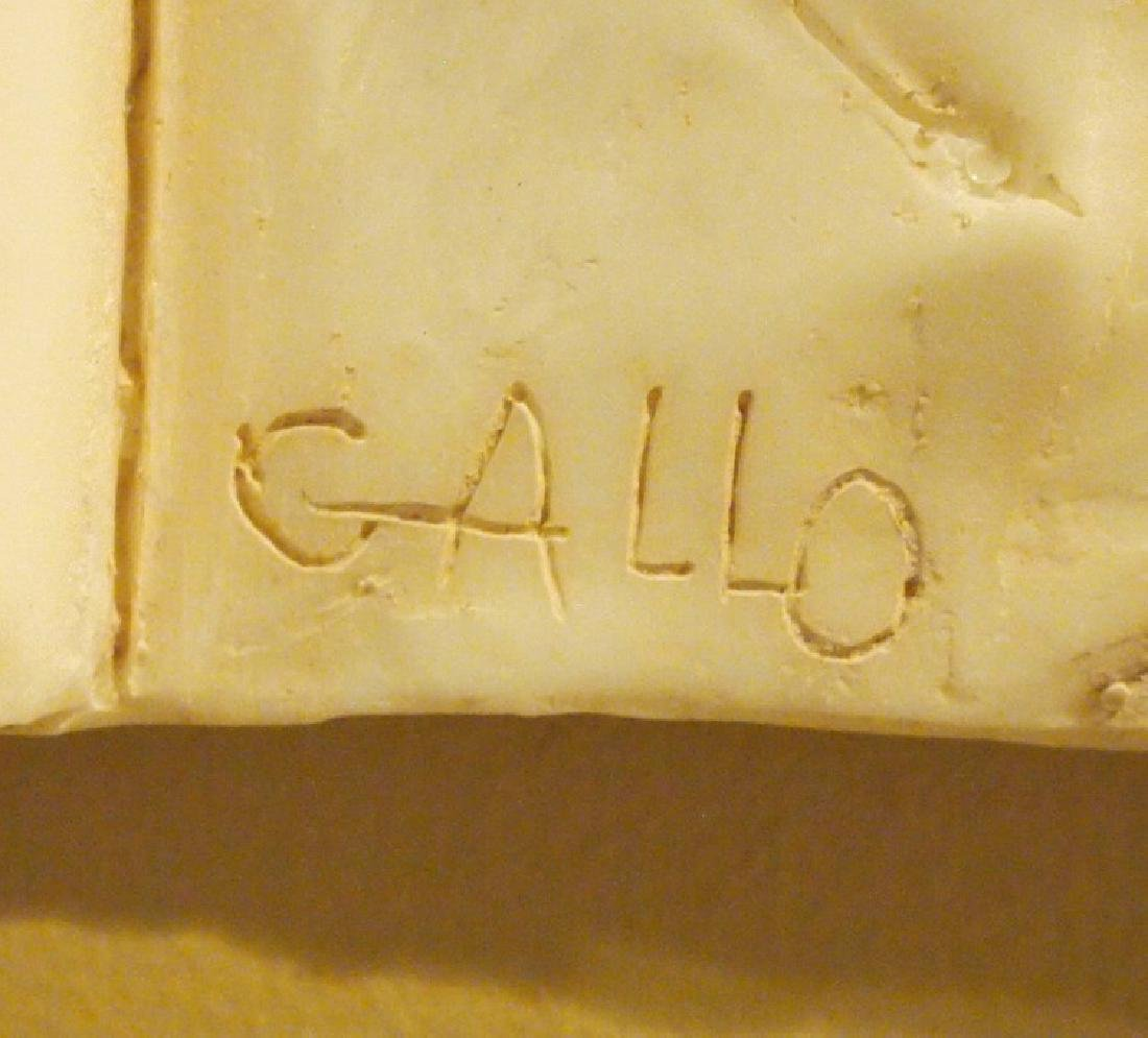F. Gallo, resin bas relief - 2