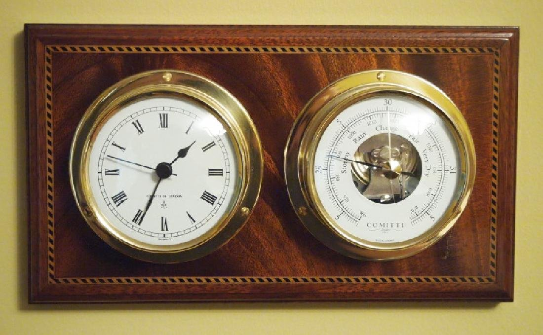 Comitti English clock/barometer