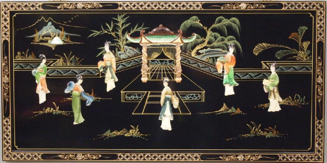 Chinese lacquer panel