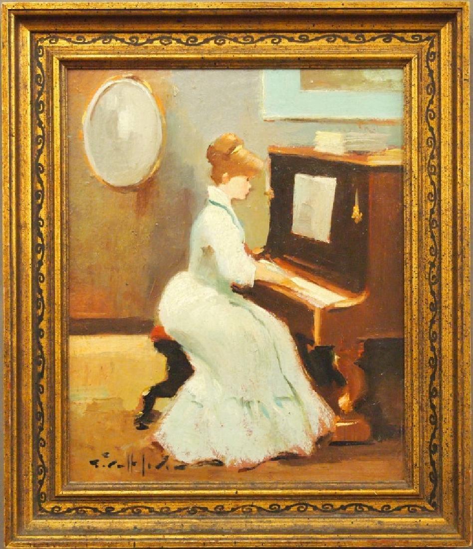 G. Lerin, woman at piano