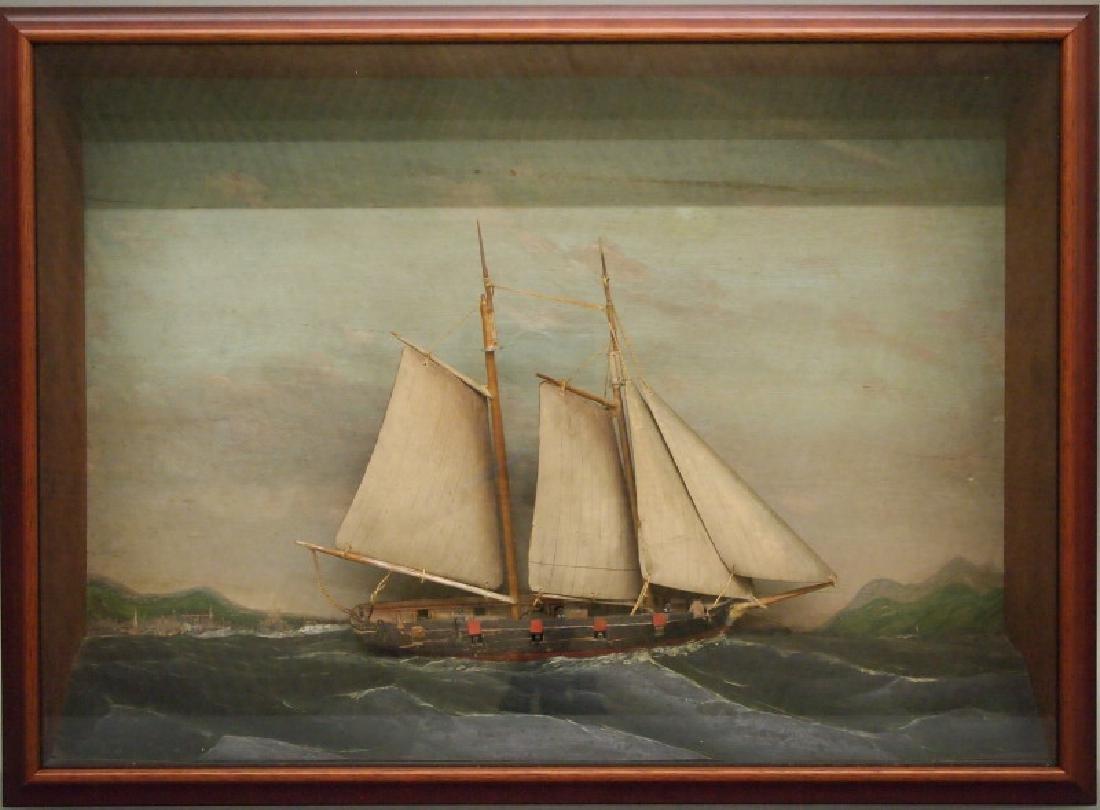 19th c. ship diorama