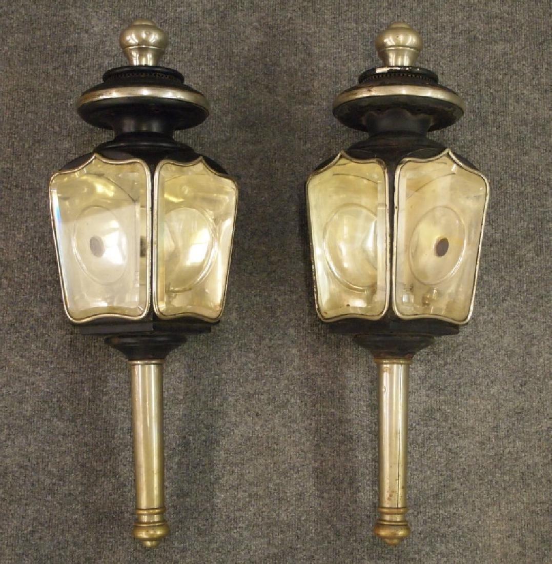 Pr brass coach lanterns