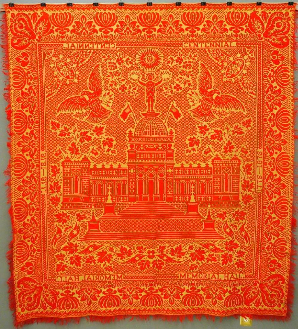 1876 Centennial Expo coverlet