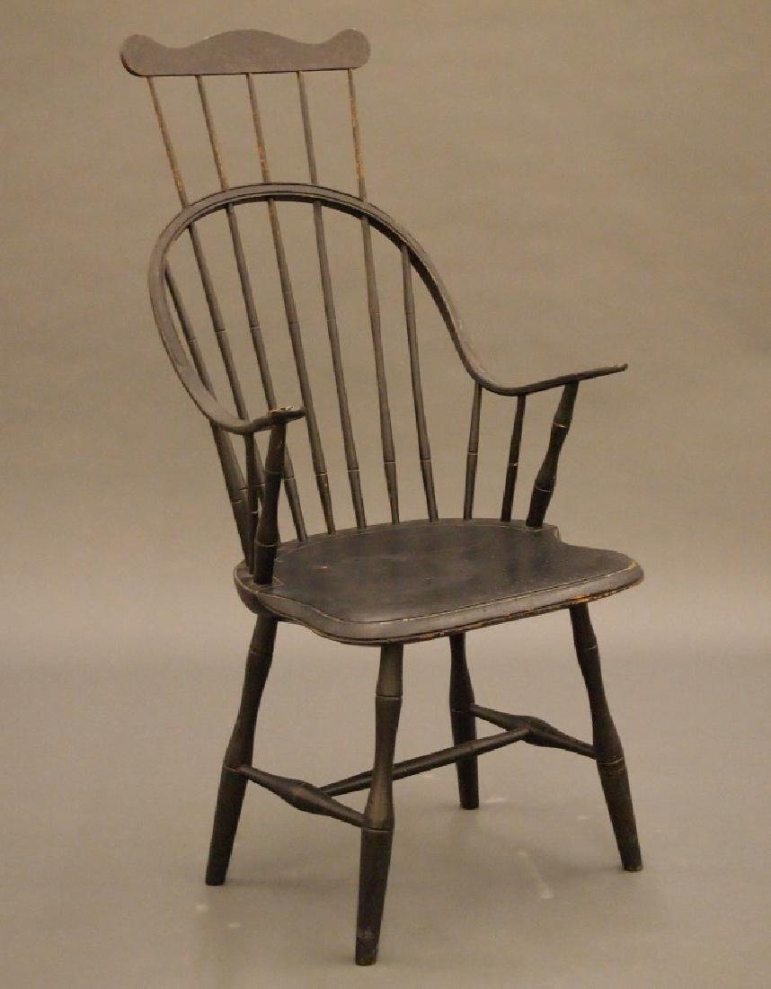 New England continuous arm Windsor armchair
