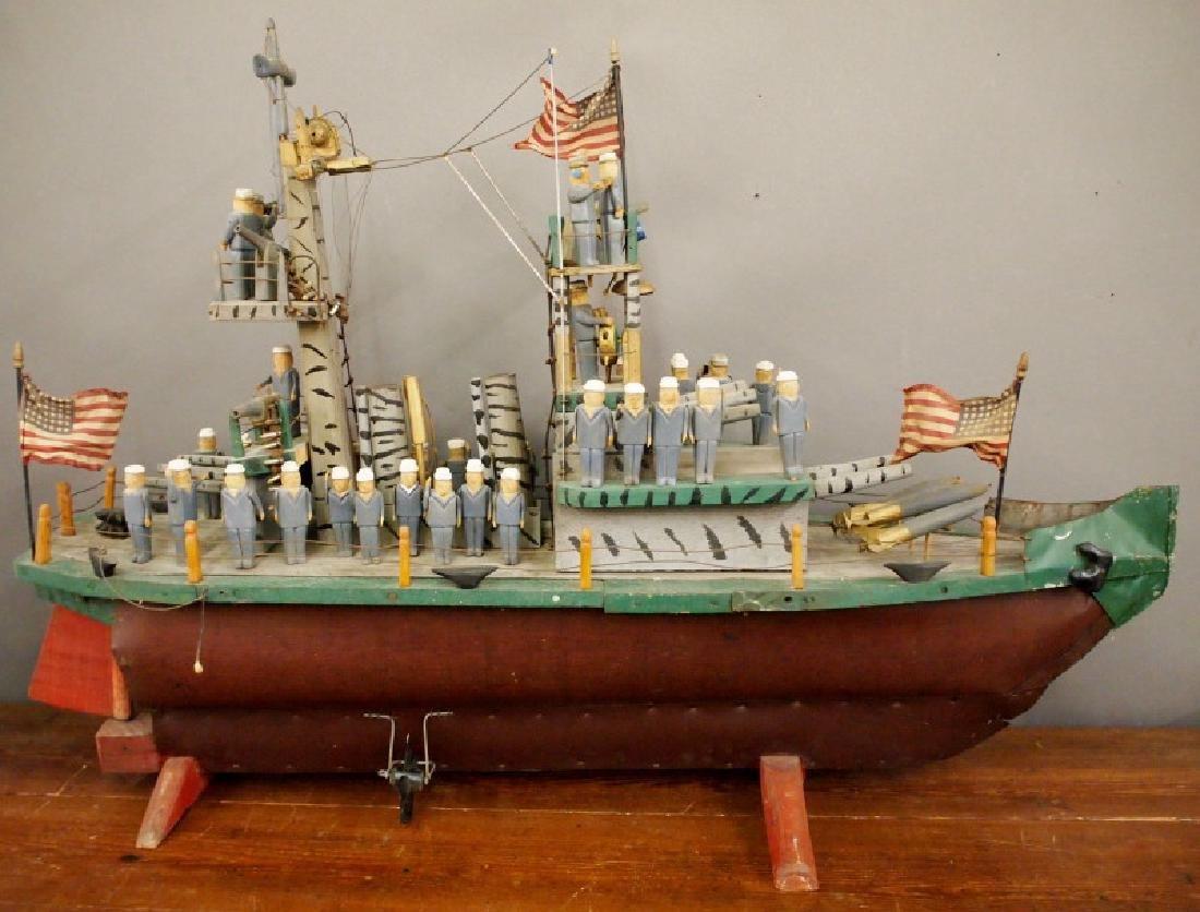 Folk Art WWII battleship