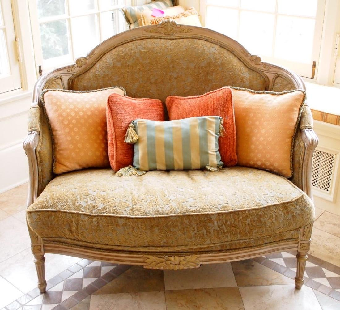 Louis XVI style chair with ottoman
