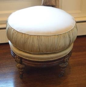 French silk ottoman