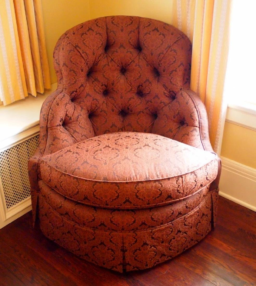 Century upholstered lounge chair