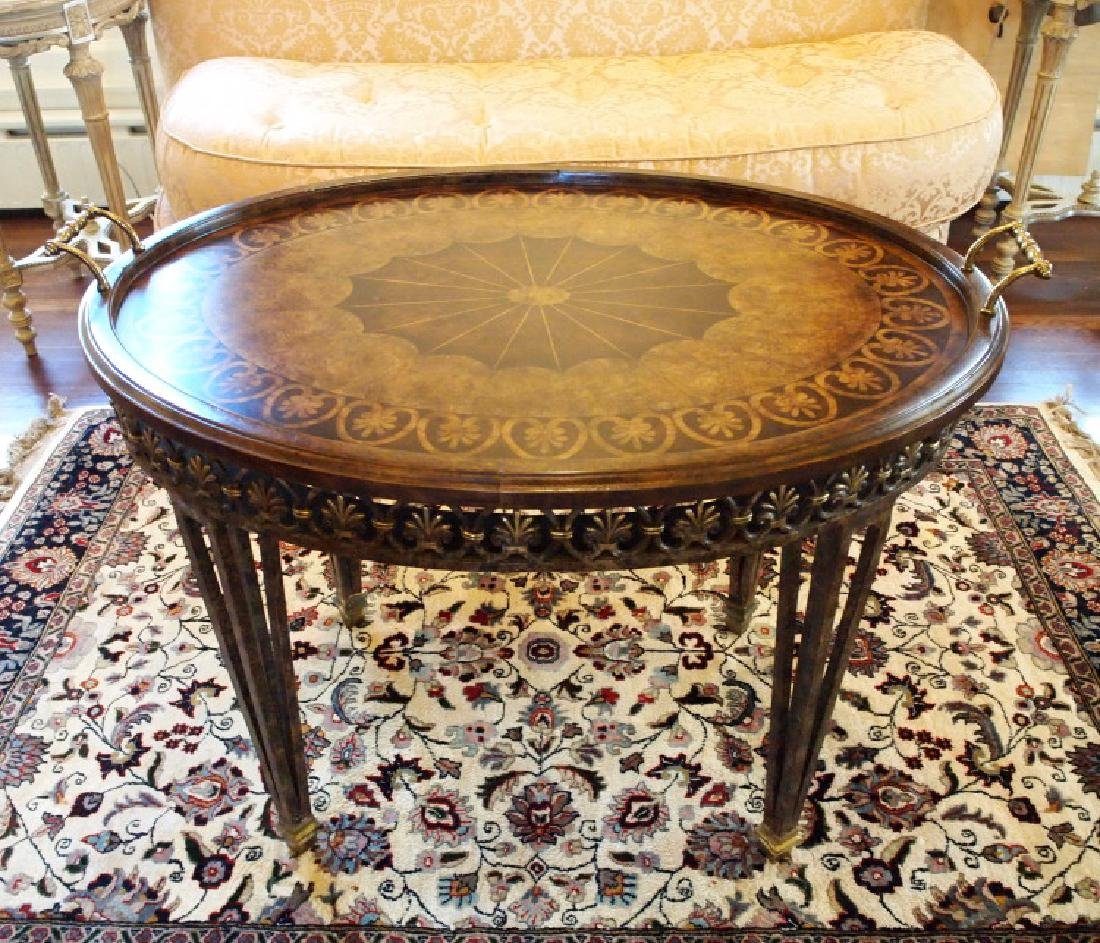 Neoclassical style tray-top table