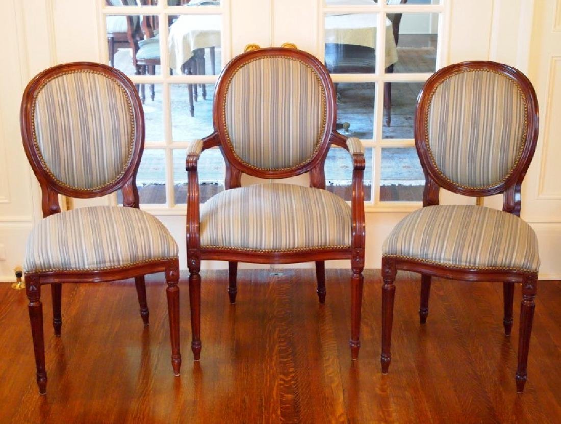 14 Louis XVI style dining chairs