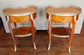 Pair Louis XV style occasional tables