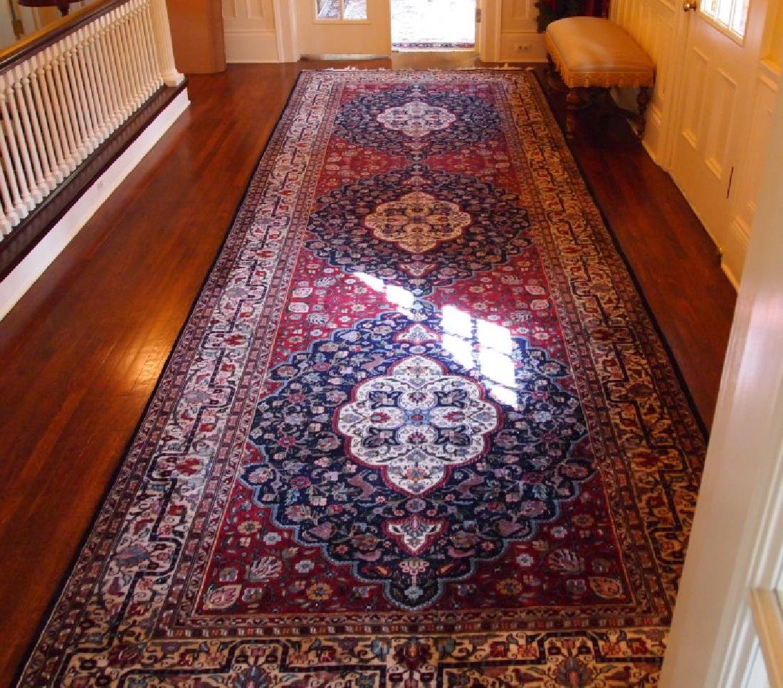 Indo-Persian wool and silk rug